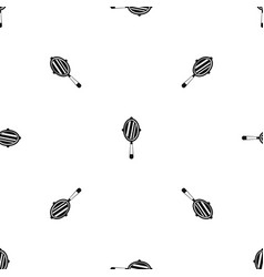 Hand mirror pattern seamless black vector