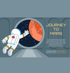 journey to mars background vector image vector image