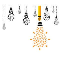 Light bulb with gears vector