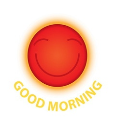 Morning sun smile vector