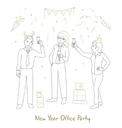 Office party line style vector