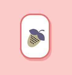 Paper sticker on stylish background strawberry vector