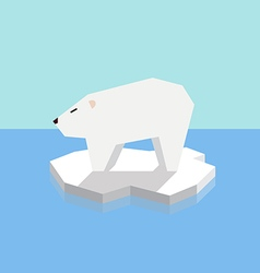Polar bear on an ice floe vector
