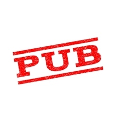 Pub watermark stamp vector