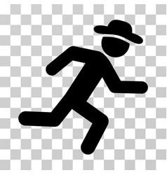 Running gentleman icon vector