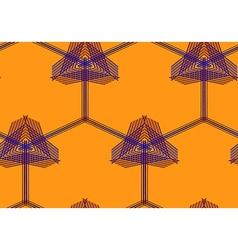 Seamless geo pattern31 vector