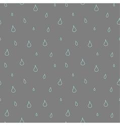 Seamless pattern of rain vector image vector image