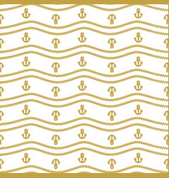 seamless pattern with ropes and chains ongoing vector image