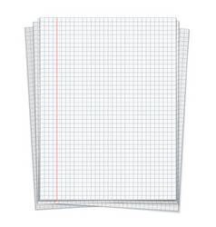 Sells notebook papers on white background vector