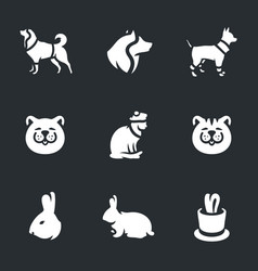 Set of animals and pets icons vector