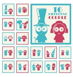 Set of different cartoon character vector