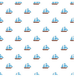 Ship excursion pattern seamless vector