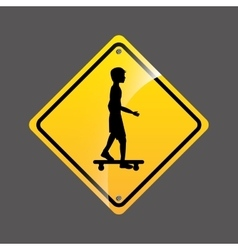 Skater person sign sport extreme design vector