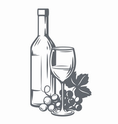 Sketch of wine vector