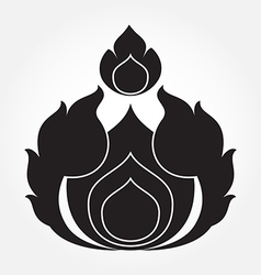 Thai arts ancient decorative element vector image vector image