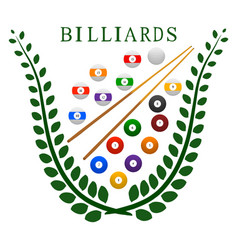 the theme billiards vector image vector image