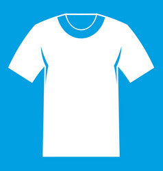 Tshirt icon white vector