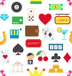 Games of chance pattern stickers vector