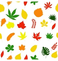 Seamless floral pattern autumn leaves texture vector