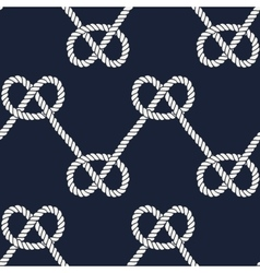 Seamless nautical rope pattern vector