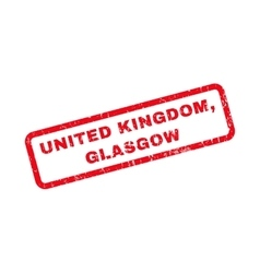 United kingdom glasgow rubber stamp vector