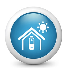 Temperature control glossy icon vector