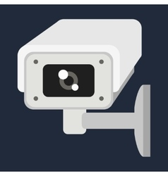 Web camera on white vector