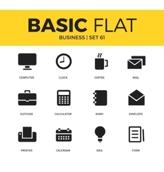 Basic set of business icons vector