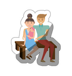 People couple pregnant family image vector