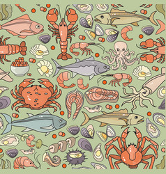 Seamless pattern of hand drawn colorful vector