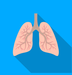 Lungs icon in flat style isolated on white vector