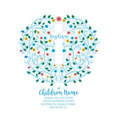 Baptism christening invite - invitation template vector