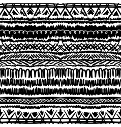 Ethnic pattern in black and white with stripes vector