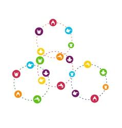 Social Network Circles vector image