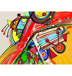 unusual digital painting of abstract composition vector image