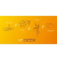 Beer components collection vector