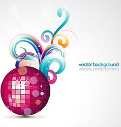 stylish disco ball design vector image