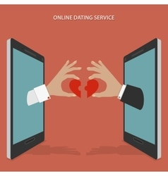 Online dating service concept vector