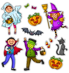 halloween kids vector image