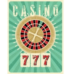 Casino vintage grunge style poster vector
