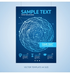 abstract sphere brochure design templates vector image