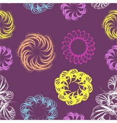 Abstract swirl retro seamless pattern vector