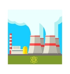 Atomic power station vector