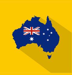 australia icon flat style vector image vector image