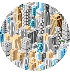Big isometric city vector
