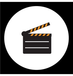 Black film movie flap simple icon eps10 vector