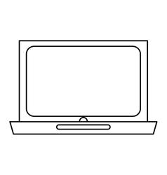 Black line laptop design vector
