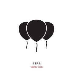 Black party balloon icon isolated on white vector image