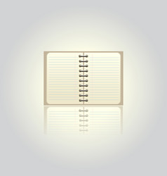 Blank pad on white vector