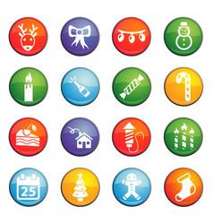 Christmass icon set vector